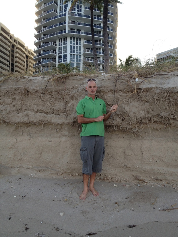 Beach erosion in December in Bal Harbour, without a major storm.