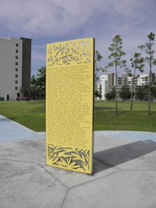 The Lemon City Cemetery Memorial lists the names many of early Miami's black residents.