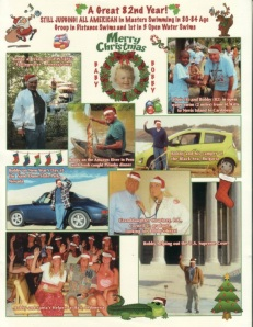 Bob Beach's 2012 Christmas card shows his baby picture and recent adventures.