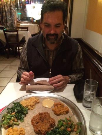 Ate Ethiopian food.