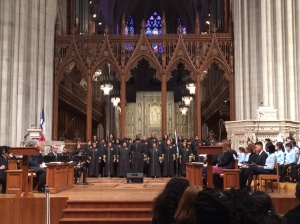 Monday's mood at the National Cathedral was decidedly anti-Trump.