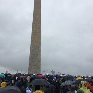 We started under the Washington Monument.
